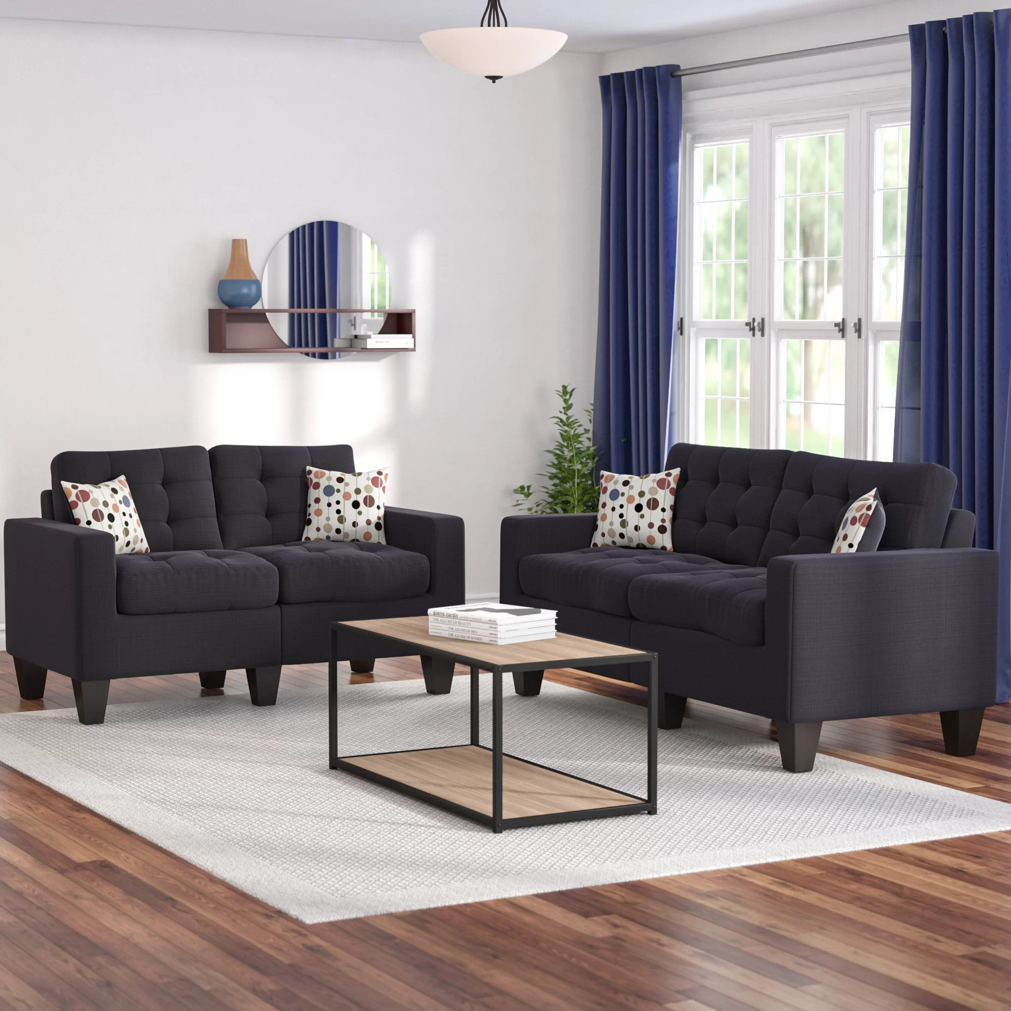 living room couch and 2 chairs good paint colors for small rooms zipcode design amia piece set reviews wayfair