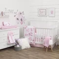 white and gold crib bedding wayfair