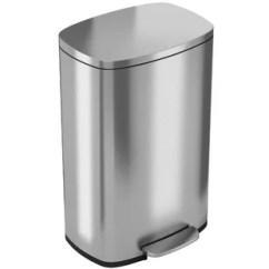 13 Gallon Kitchen Trash Can Honest Step On Wayfair Soft Stainless Steel 2