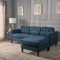 Elliot Fabric Sectional Living Room Furniture Collection Formal Design Modern Contemporary Navy Blue Sofa Allmodern Quickview