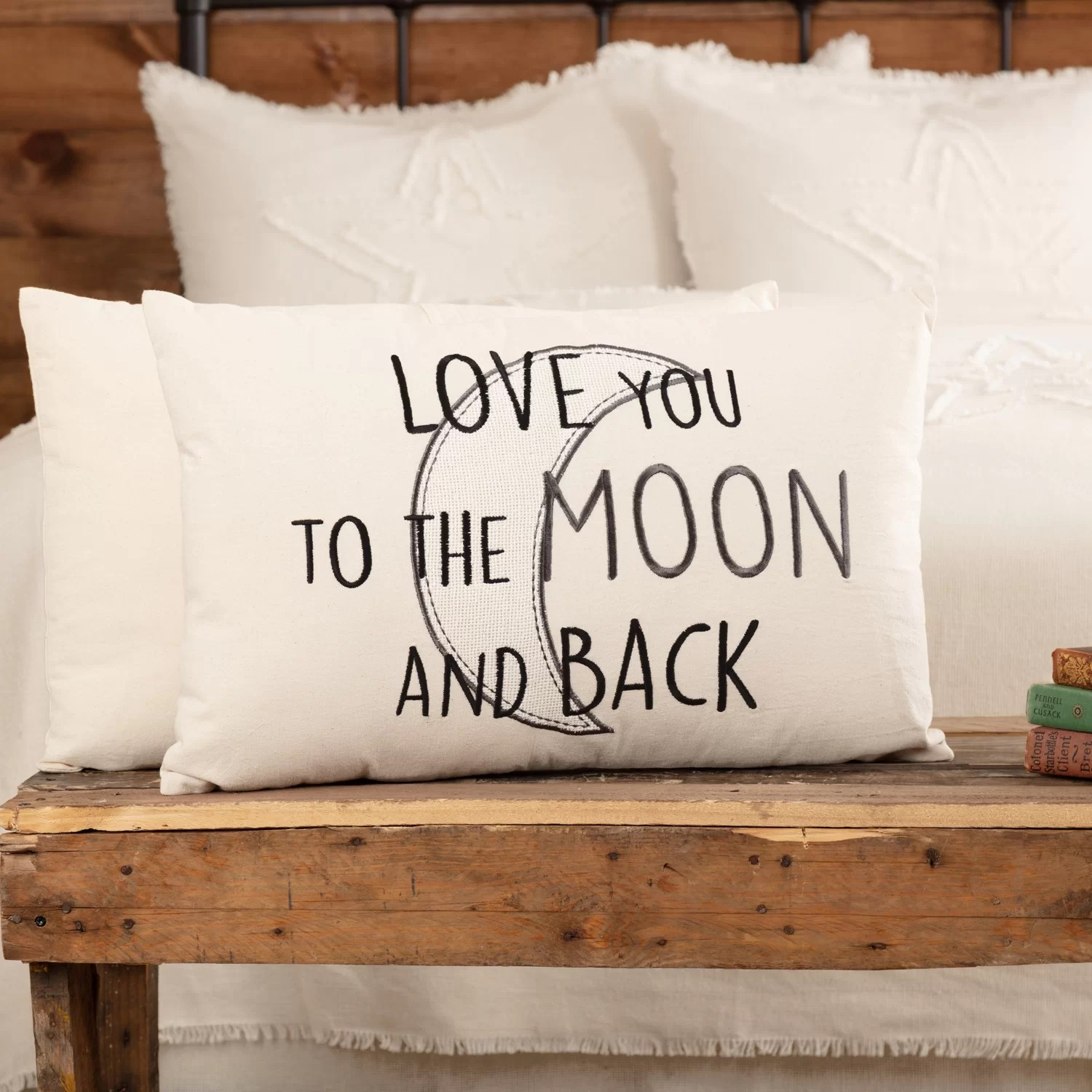 plympt love you to the moon and back cotton rectangular pillow cover insert