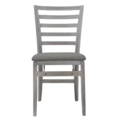 White Folding Chairs Decorative Desk You Ll Love Wayfair Contoured Back Wood Padded Chair Set Of 2