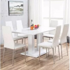 White 6 Chair Dining Table Turquoise Office Round Chairs Wayfair Co Uk Quickview 0 Apr Financing