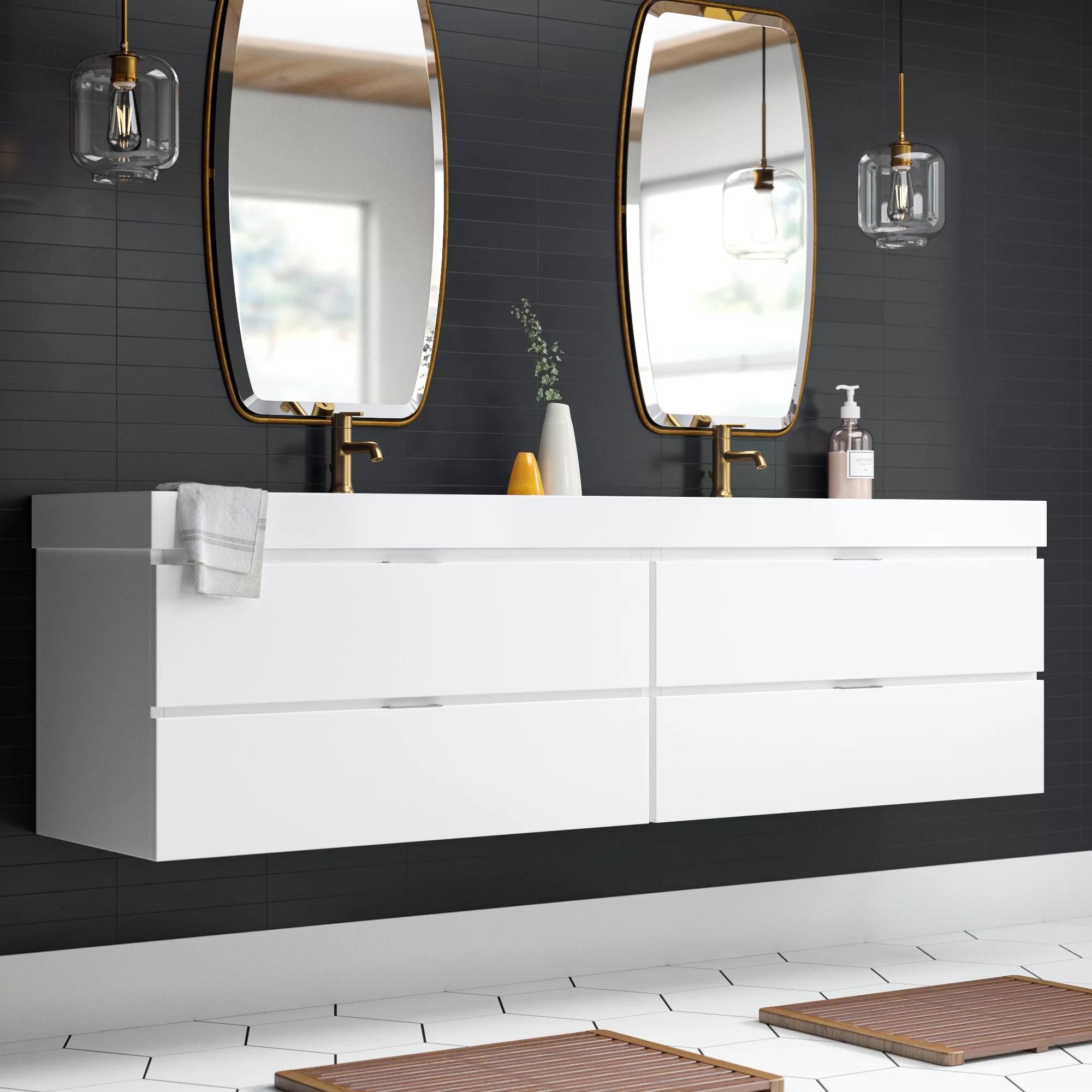 Shania 80 Double Modern Bathroom Vanity Set Reviews Allmodern