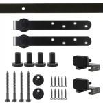 Calhome Mini Sliding Barn Door Track Hardware Kit For Cabinet Closet Single Small Door