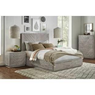 platform solid wood configurable bedroom set