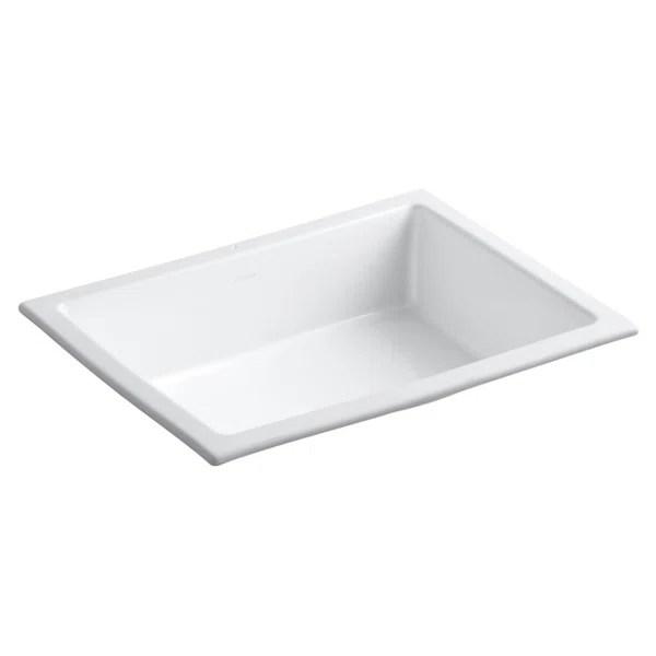 modern contemporary small undermount bathroom sink