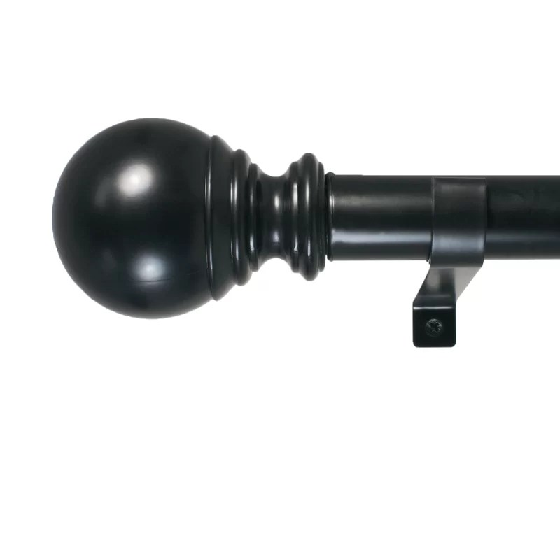 inman ball telescoping drapery single curtain rod