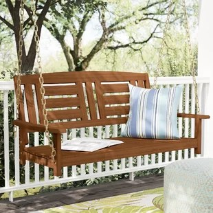 hanging patio swing chair skull seats you ll love wayfair co uk arianna hardwood porch