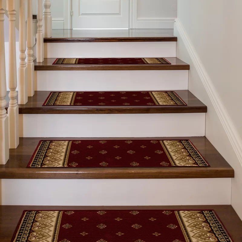 Astoria Grand Rosina Stair Tread Reviews Wayfair | Wayfair Stair Carpet Runners | Textured Carpet | Rosalind Wheeler | Staircase Makeover | Treads Carpet | Brown Beige