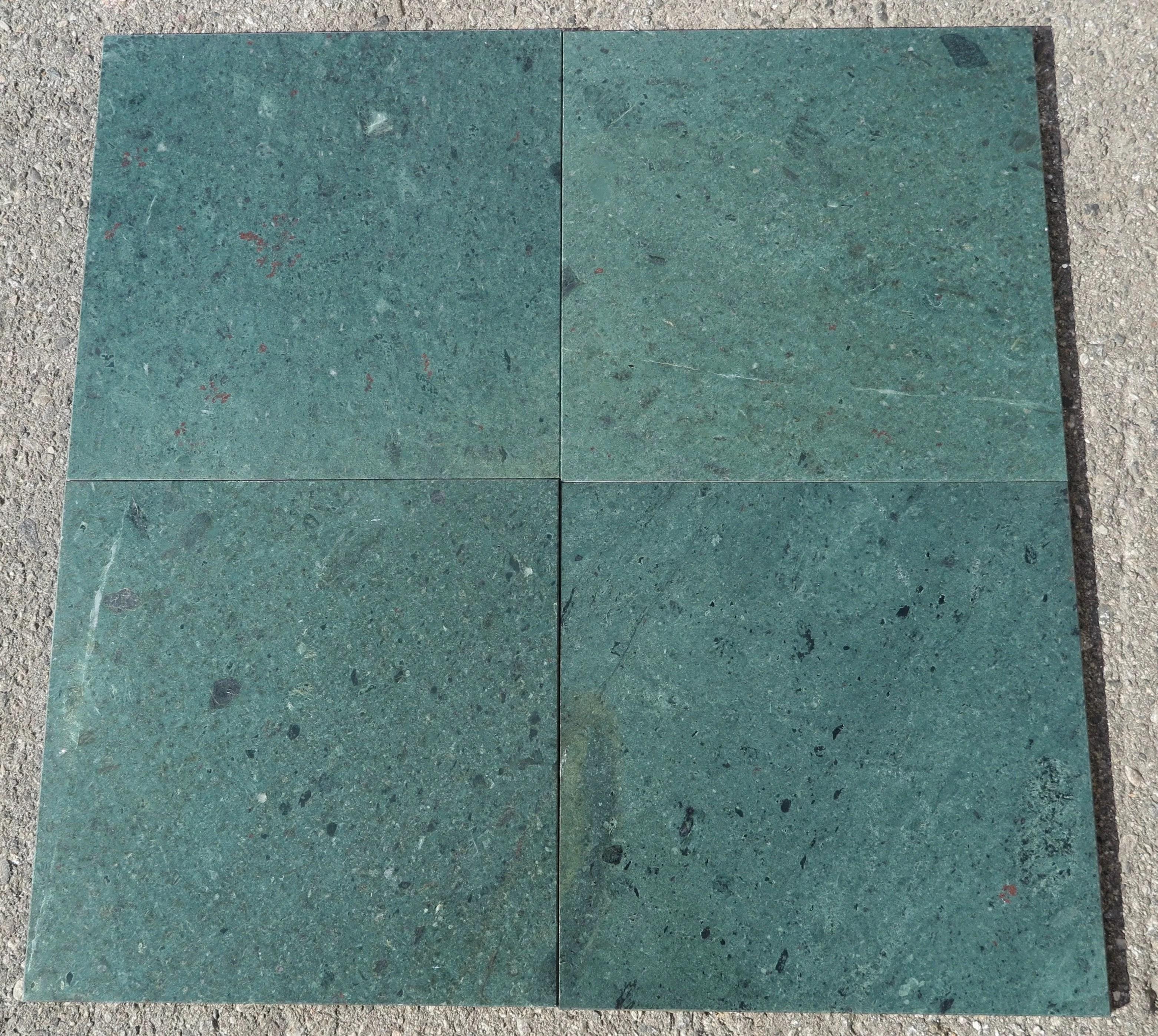 medium green polished 12x12 marble field tile