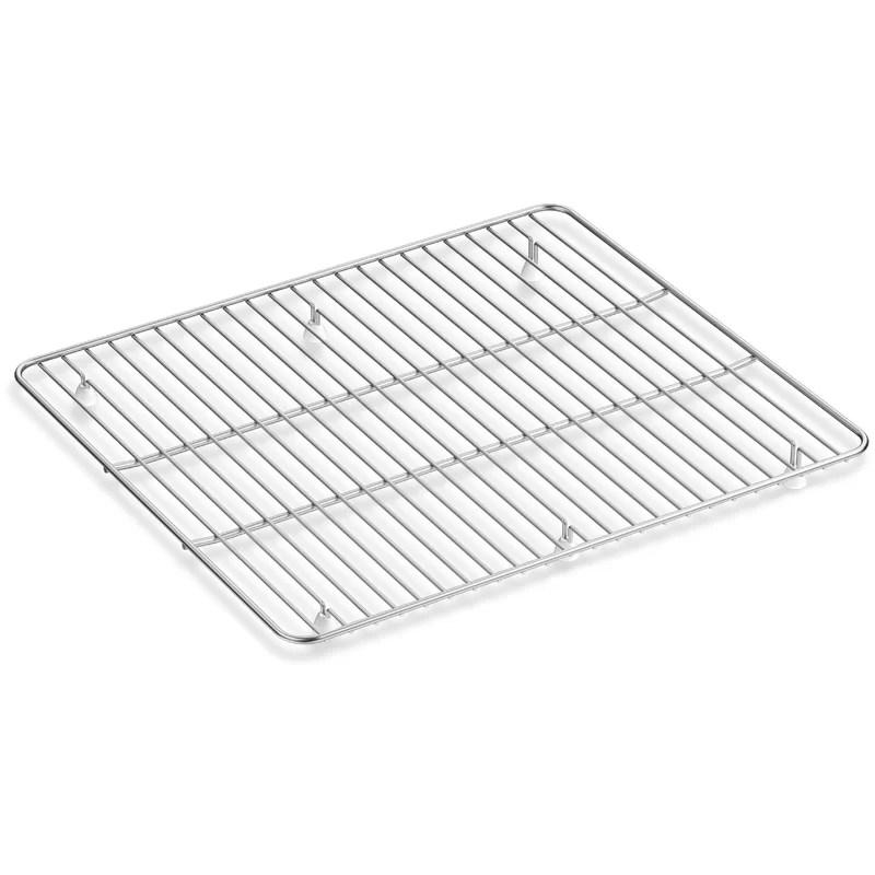 kennon large stainless steel sink rack