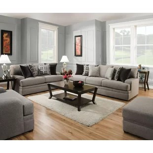 grey living room set decorating ideas with fireplace sets joss main elienor modern configurable