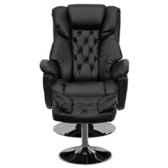 Leather Swivel Recliner Chair And Ottoman Outdoor Covers Brisbane Real Wayfair Beno Transitional With