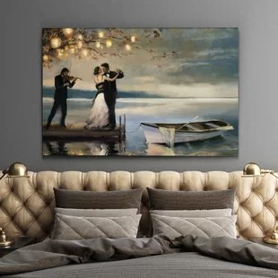 paintings for living room decorating a with navy blue furniture canvas bedroom wayfair quickview