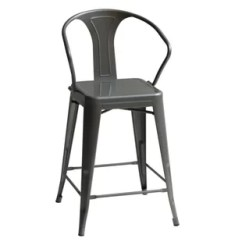 High Bar Stool Chairs Dining Wingback Chair Wayfair Oldham Back 43 Set Of 4