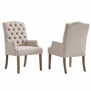 upholstered dining room chairs with arms big and tall desk chair staples wayfair quickview