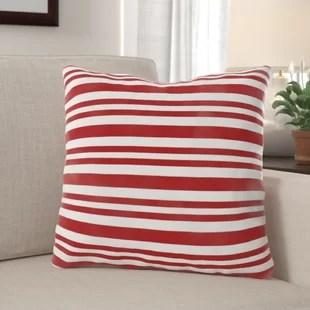 ellianna candy cane stripe indoor outdoor canvas throw pillow