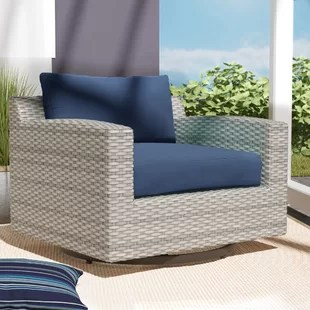 merlyn swivel patio chair with cushions
