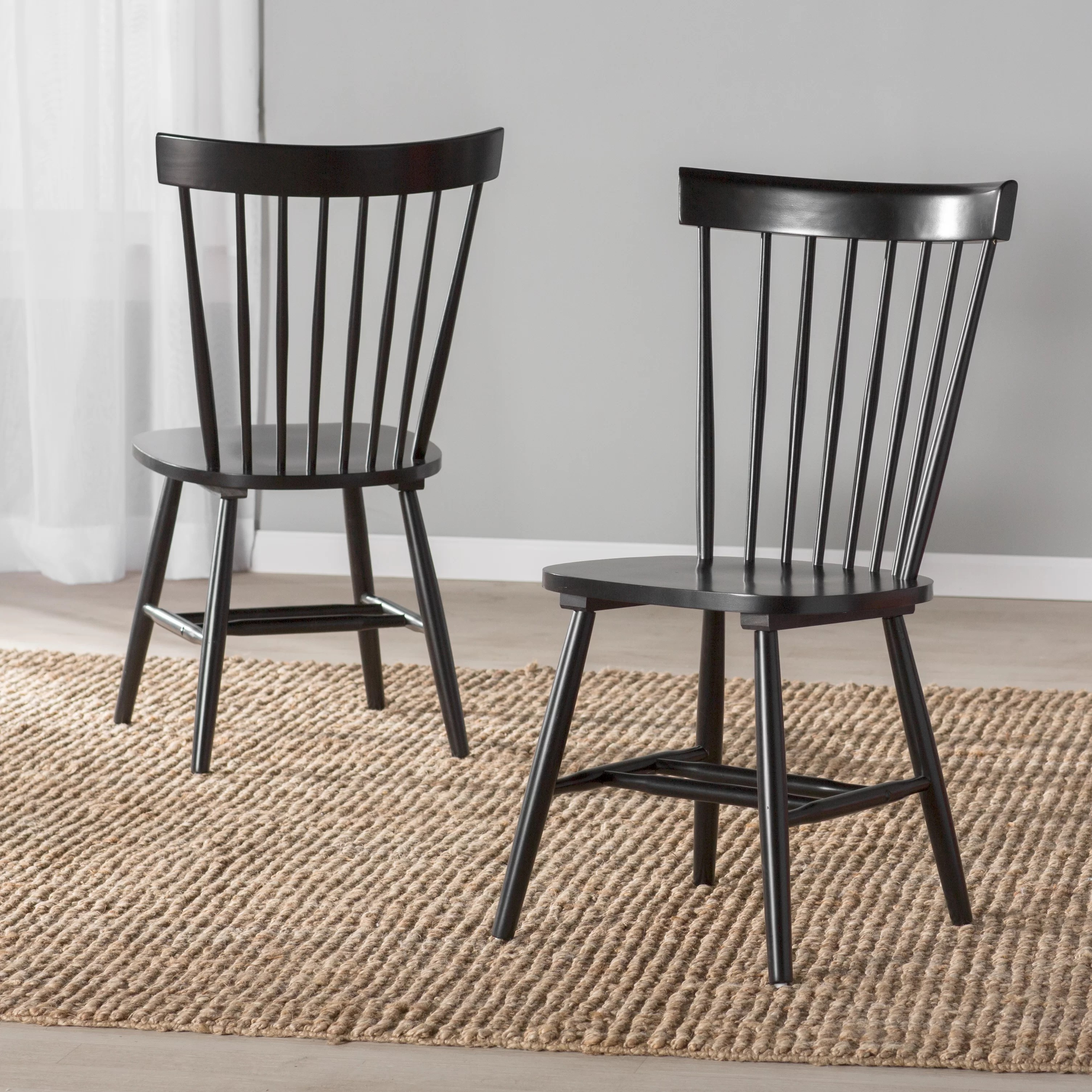 solid wood chairs pink office australia beachcrest home royal palm beach dining chair reviews wayfair