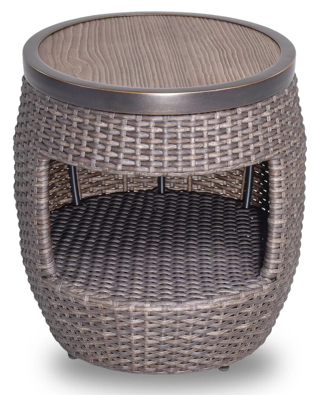 20 round all weather wicker coffee table outdoor patio garden furniture
