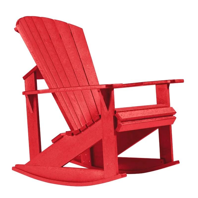 Alanna Plastic Rocking Adirondack Chair