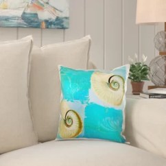 Pillow Covers For Living Room Modern Decor Beach Theme Wayfair Grandin Two Shells With Starfish And Cover