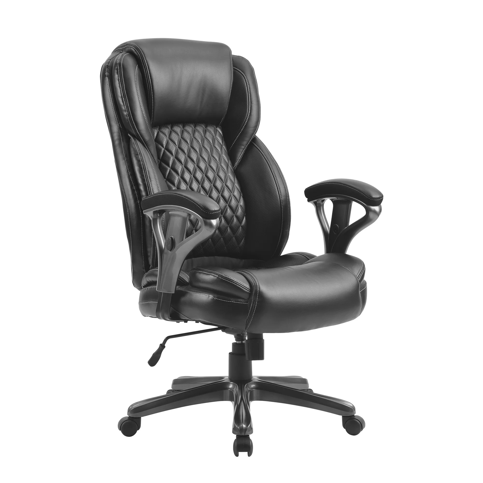 Red Barrel Studio Home Office Large And Tall Pu Leather Office Chair Ergonomic Computer Chair High Back Pu Executive Chair Black Wayfair Ca