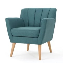 Teal Club Chair Wooden Table And Chairs For Toddlers Modern Contemporary Dark Allmodern Quickview