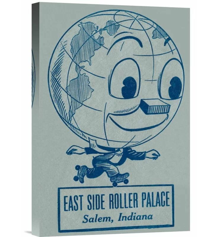 East Side Roller Palace by RetroRollers Vintage Advertisement on Wrapped Canvas