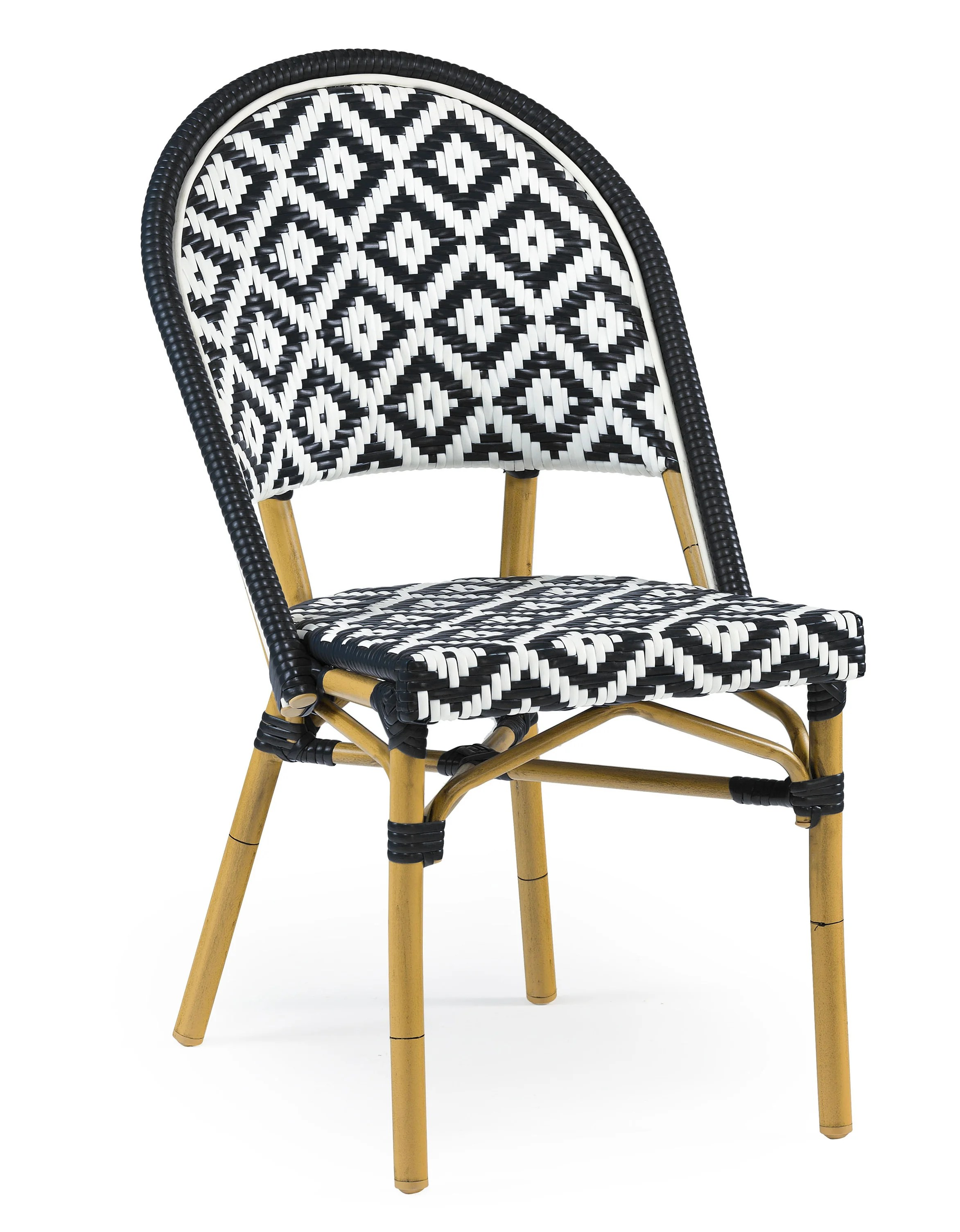 bamboo dining chair high table and chairs outdoor bungalow rose dipietro stackable wayfair