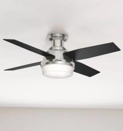 hunter fan 44 dempsey low profile 4 blade ceiling fan with remote light kit included reviews wayfair [ 1000 x 1000 Pixel ]