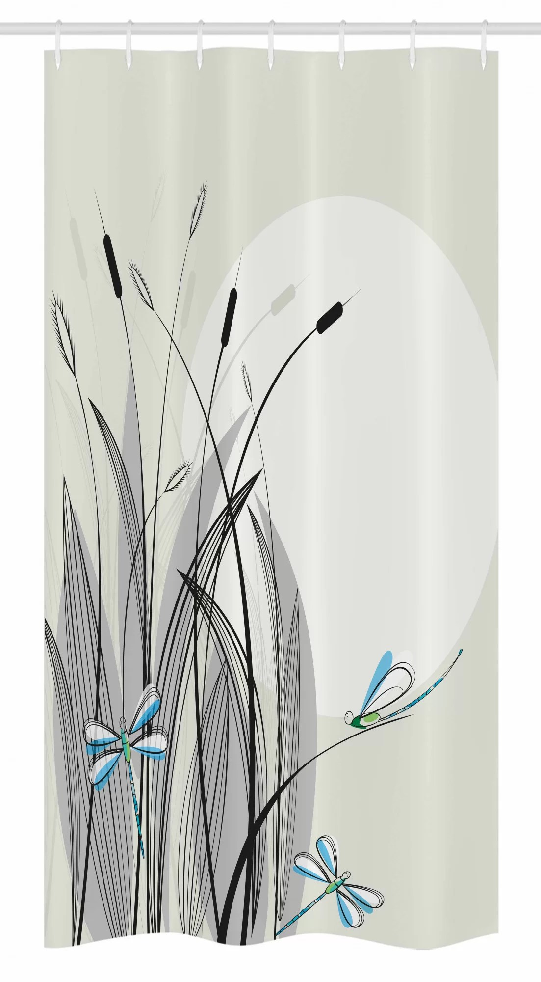 dragonfly stall shower curtain single hooks
