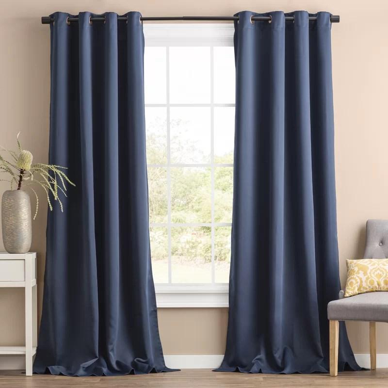 blackout thermal grommet curtain panels