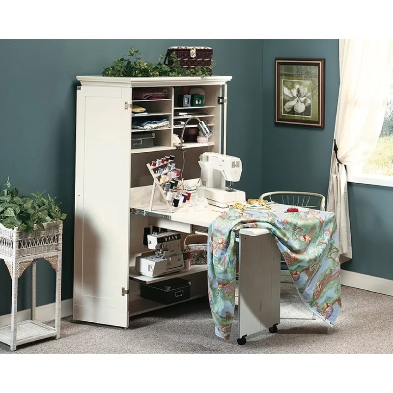 Decor Craft And Sewing Armoire With Table Reviews Wayfair