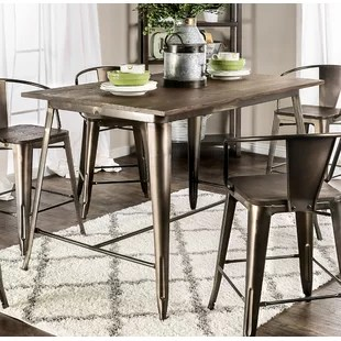 bar height kitchen table sets colors to paint cabinets counter stone top wayfair reedley dining