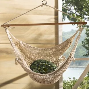 rope chair swing windsor arm chairs hammock you ll love wayfair hawkins cotton