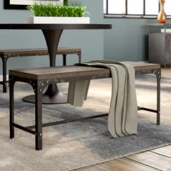 Benches For Kitchen Table Rustic Sets Dining You Ll Love Wayfair Ca Myaa Meta Wood Bench