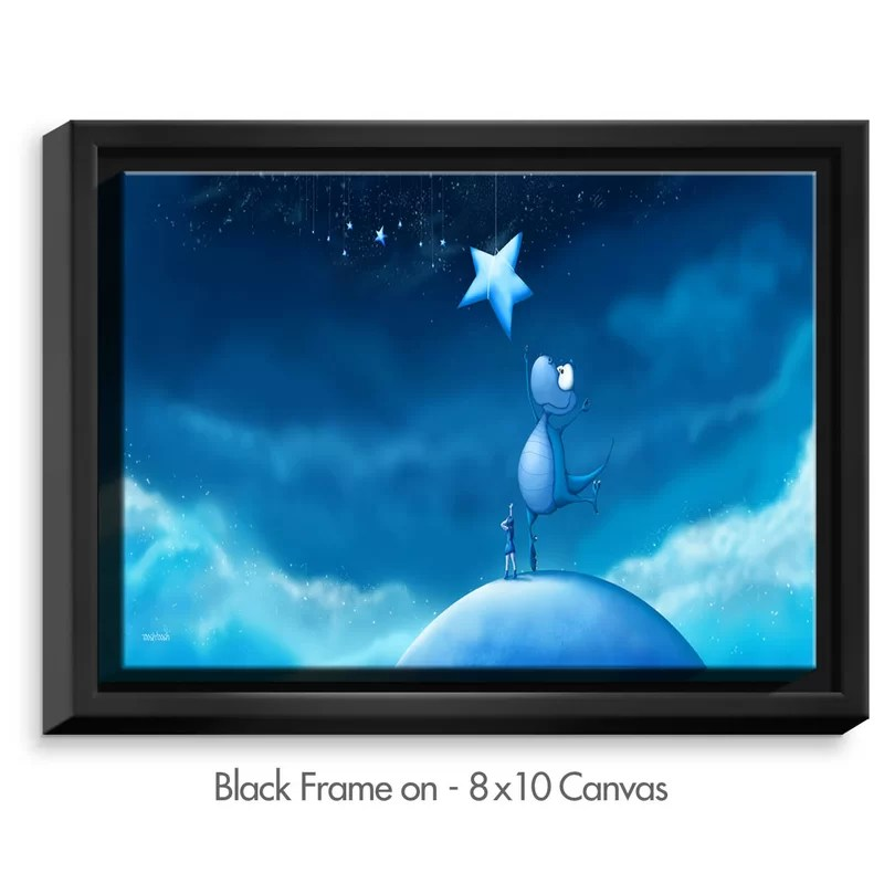 Reach for a Star by Tooshtoosh Painting Print on Wrapped Framed Canvas Size: 13.75 H x 17.75 W x 1.75 D Frame Color: Black