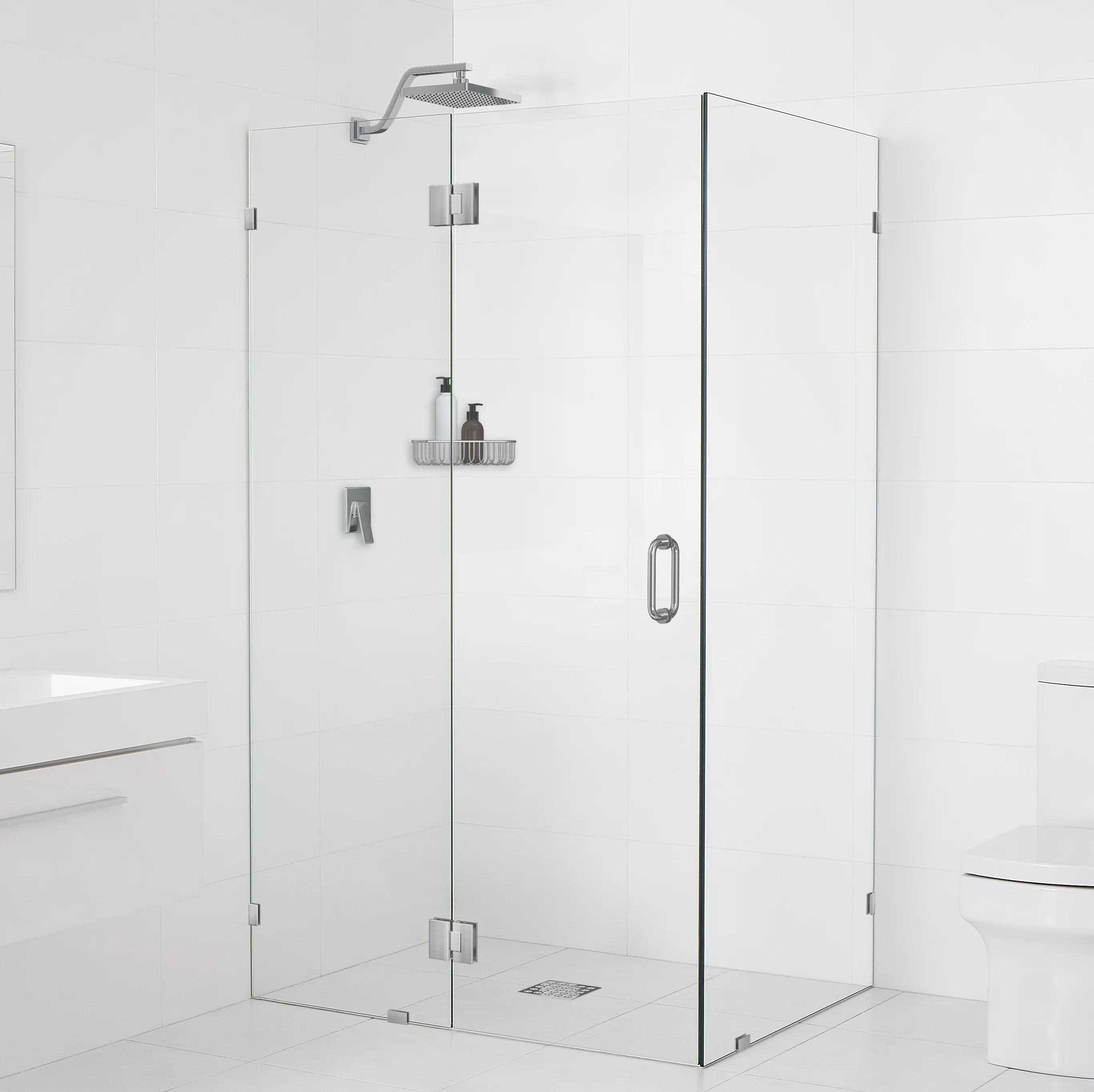 59 X 78 Hinged Frameless Shower Door