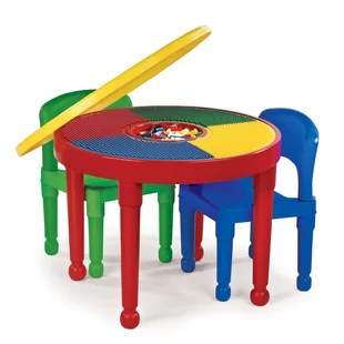 activity table and chair set target bungee dorm kids with storage you ll love wayfair 4 piece circular 10