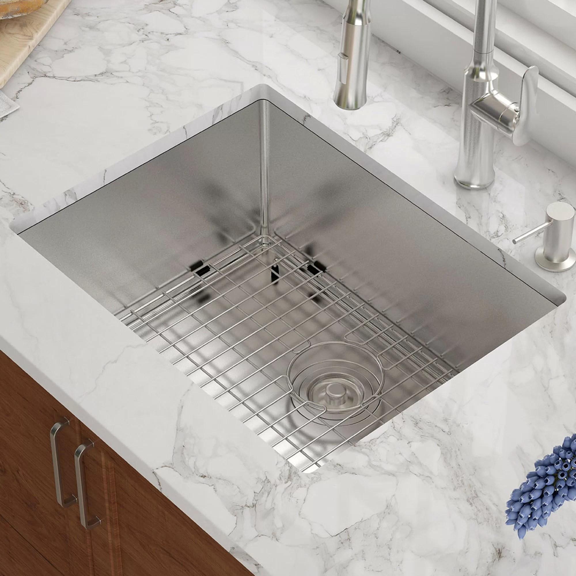 high end kitchen sinks hand soap khu101 23 kraus l x 18 w undermount sink reviews