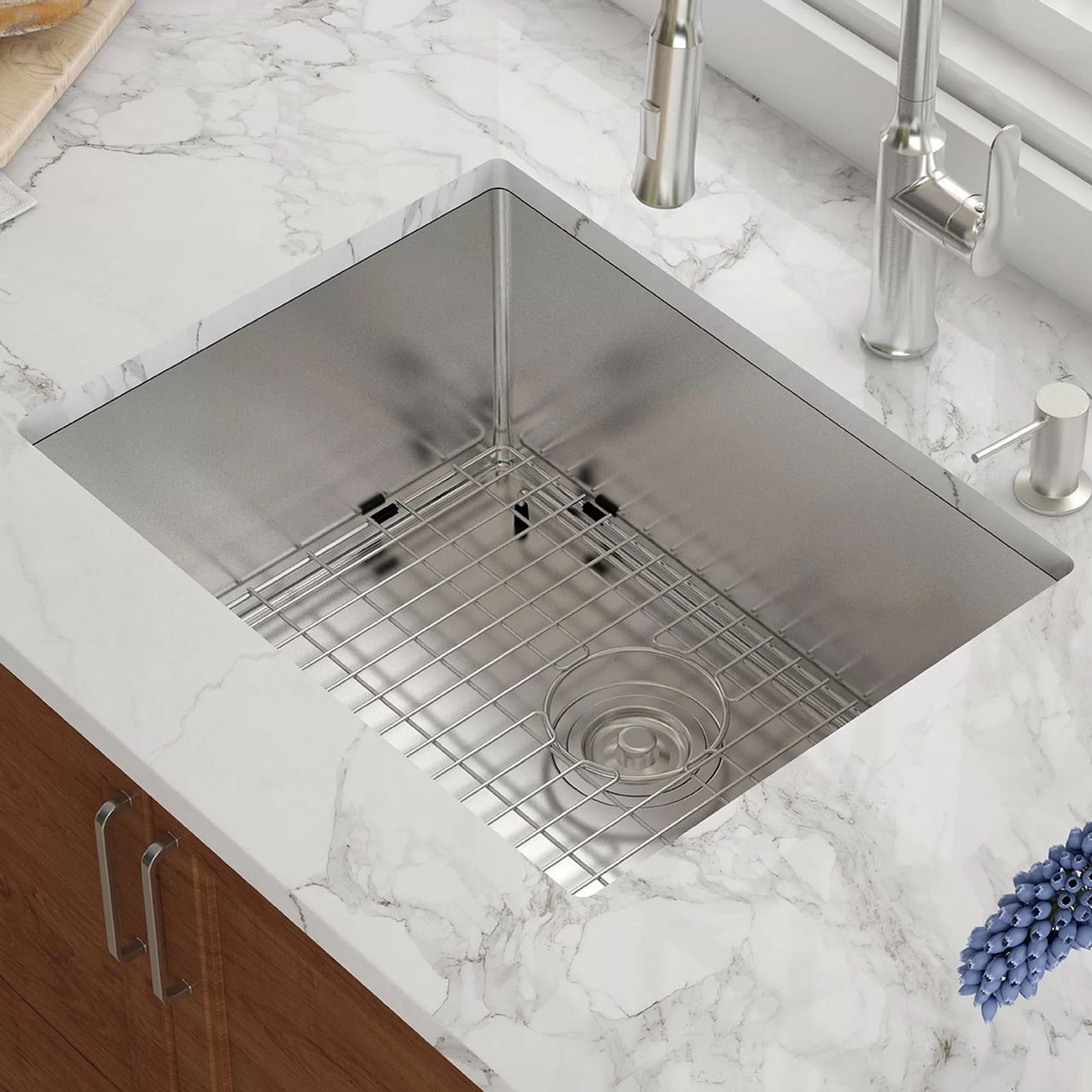 high end kitchen sinks drop ceiling lighting khu101 23 kraus l x 18 w undermount sink reviews