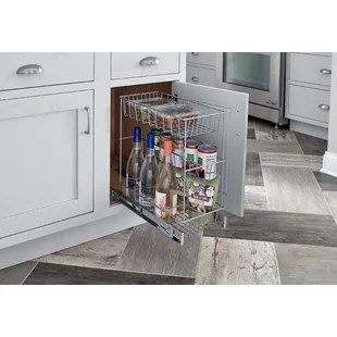 pulls for kitchen cabinets stainless steel island cart cabinet hardware you ll love wayfair ca 3 tier compact pull out drawer