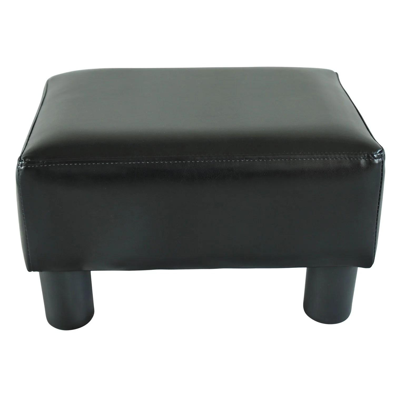 black ottomans pouffes footstools