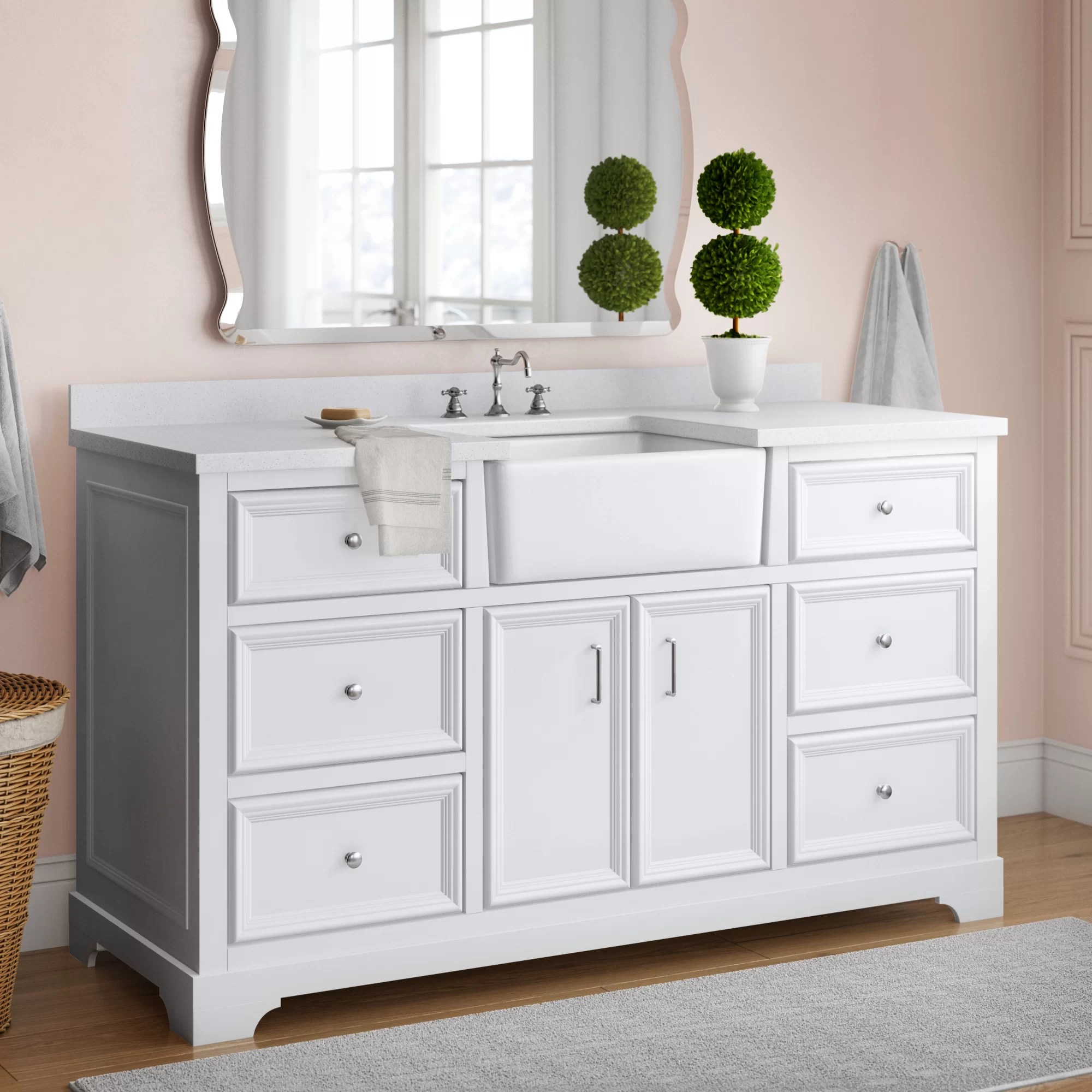 Charlton Home Heath 60 Single Bathroom Vanity Set Reviews Wayfair