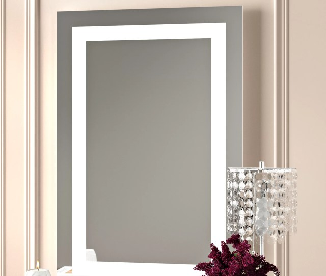 Willa Arlo Interiors Rectangle Led Lighted Wall Mirror Reviews Wayfair