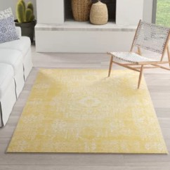Yellow Living Room Rugs How To Design The Gold Joss Main Delgado Area Rug