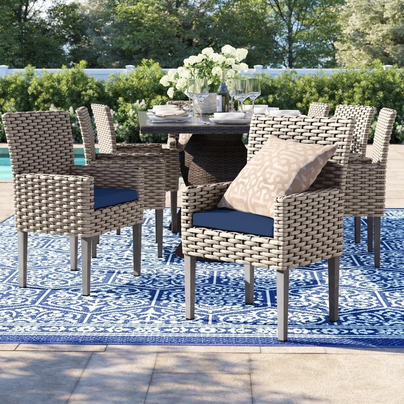 rockport patio dining chair with cushion