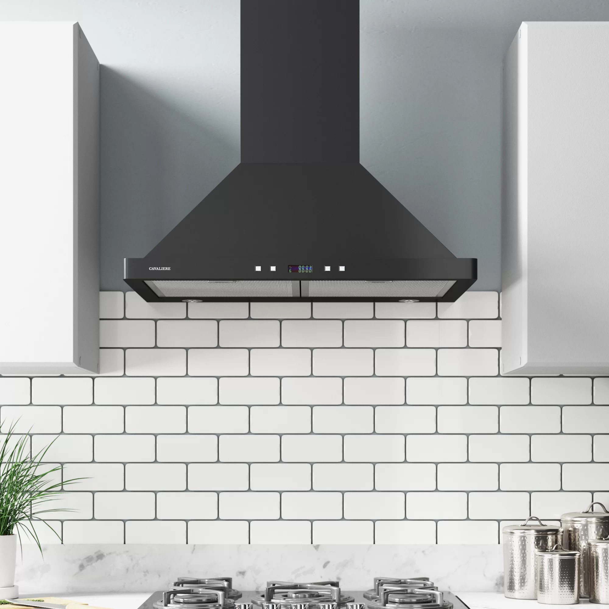 Cavaliere 30 Inch Range Hood Wall Mounted Stainless Steel Kitchen Vent 900 Cfm Range Hoods